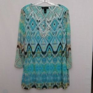 Just in! INC Concepts Embellished Tunic Top XL